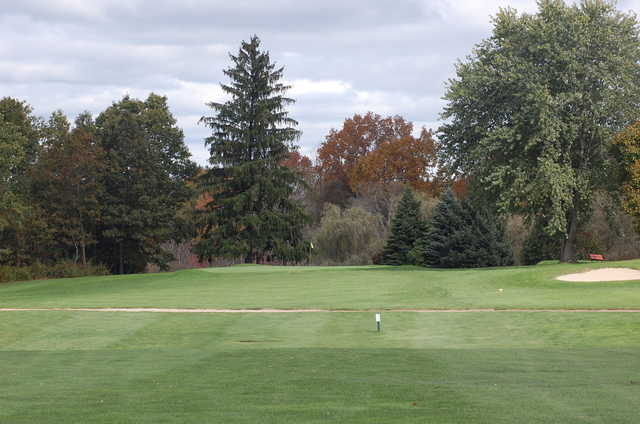 A view of the 2nd green at Dudley Hill Golf Club