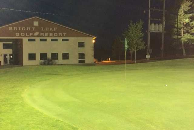 An evening view of a hole at Bright Leaf Golf Resort