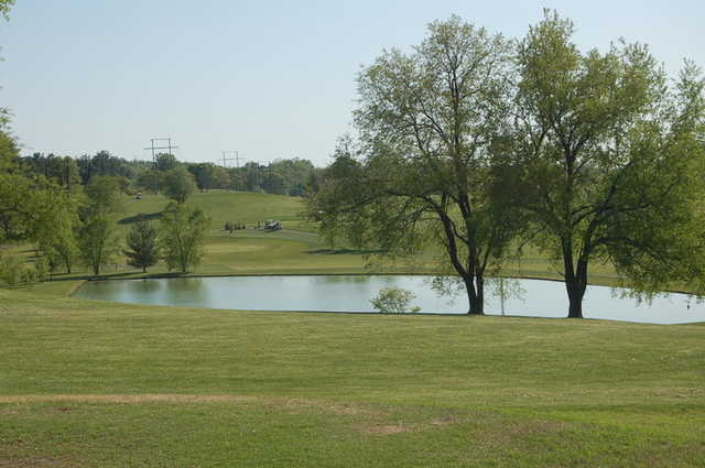A view of the 1st hole at Lakes at Tri Cities Golf Course