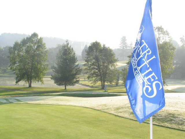 A view from a green at Tri Cities Golf Course
