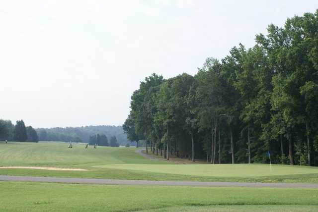 A view of the 9th green at Mill Quarter Plantation Country Club