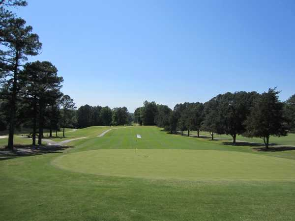 A view of hole #18 at Oconee Country Club