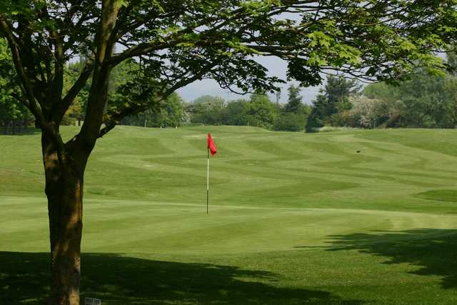 A view of the 13th green at Weston Turville Golf Club