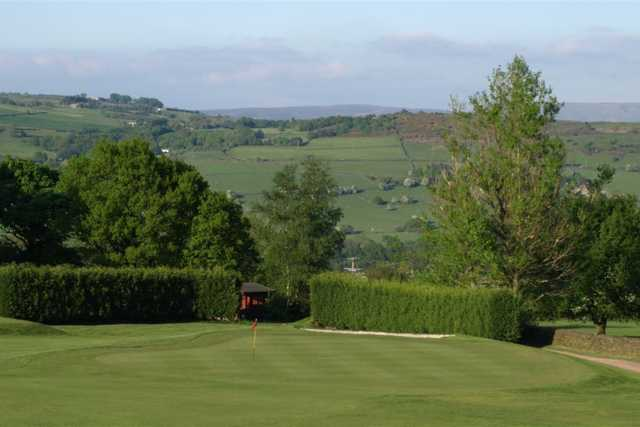 A view of a green at Disley Golf Club