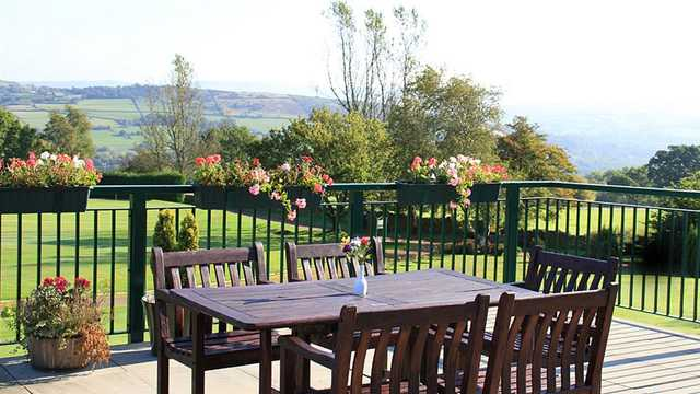 A view from a terrace at Disley Golf Club