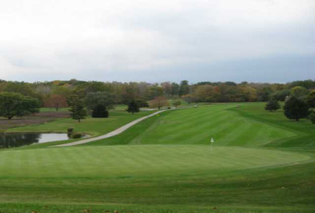 A view of the 18th green at Prestwick Country Club