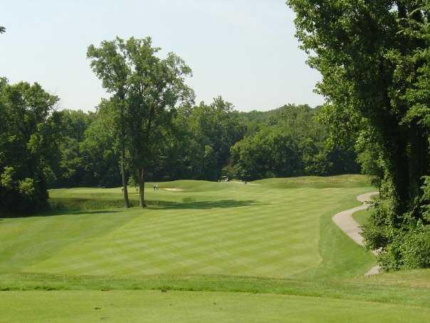 A view of fairway #6 at Twin Bridges Golf Club.