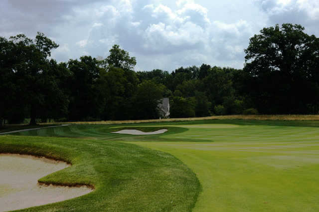 A view from fairway #1 at Sagamore Golf Club