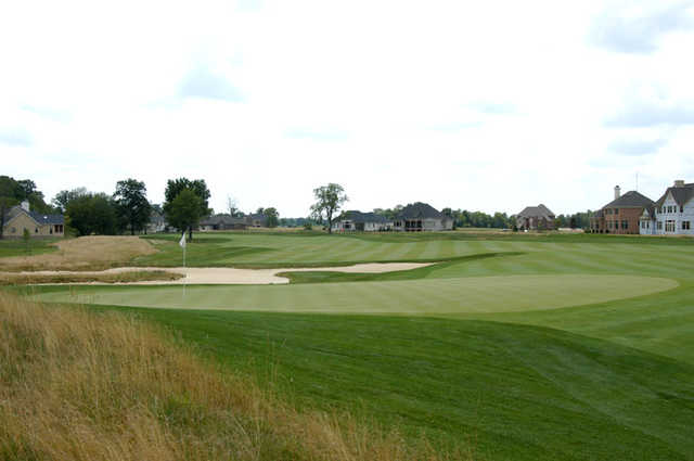 A view of the 2nd green at Sagamore Golf Club
