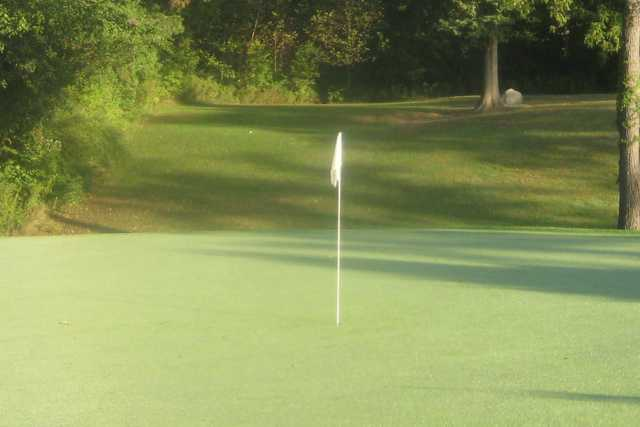 A view of the 3rd green at The Par-3 Course from Stony Creek Golf Club