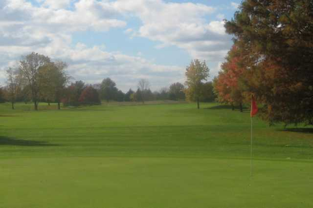 A view of green #17 at The Championship Course from Stony Creek Golf Club