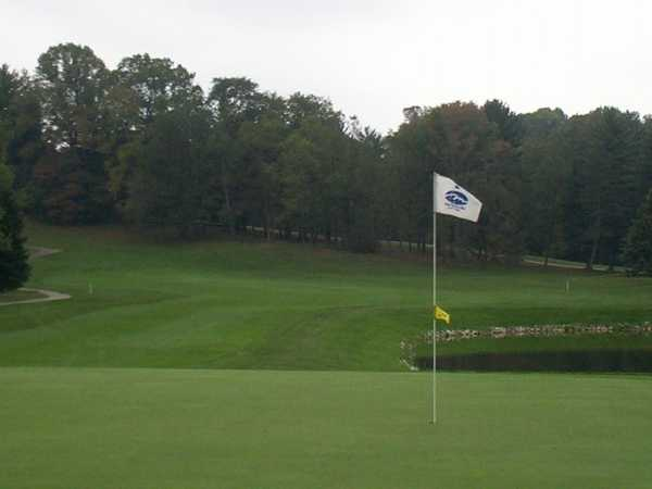 A view of the 4th green at Martinsville Country Club
