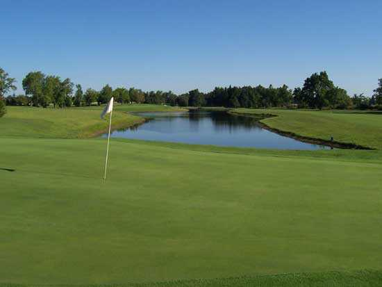 A view of a green at Winchester Country Club