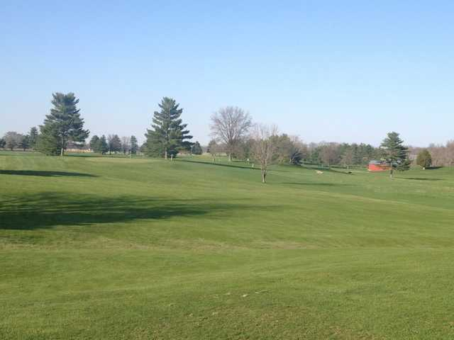 A view of a green at Parke County Golf Course
