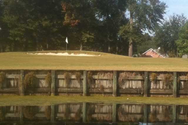A view over the water from Squirrel Run Golf Club