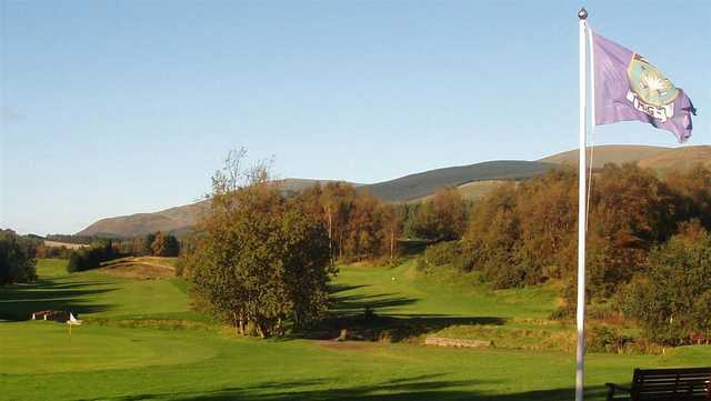 A view of a hole at Muckhart Golf Club