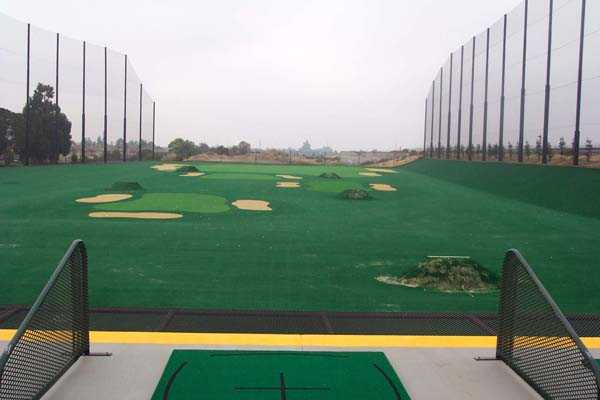 View of the driving range at Mission Hills of Hayward Golf Course