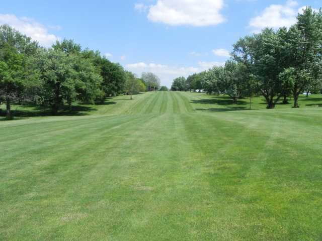 A view of a fairway at Red Oak Country Club