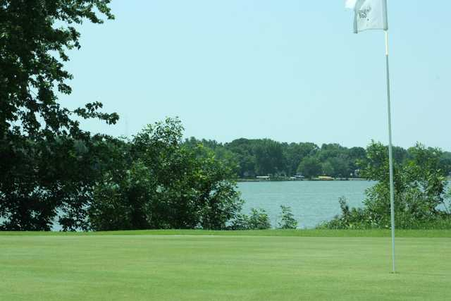 A view of a hole at Five Island Golf Course
