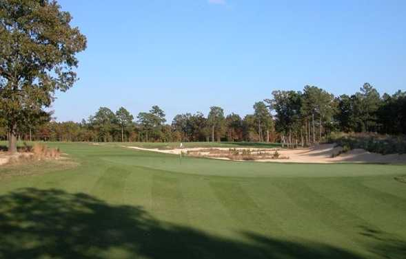 View of the hole #4 behind the green complex at Tobacco Road Golf Club