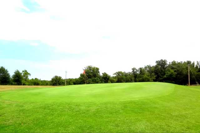 A view of hole #9 at Lost Woods Golf Course