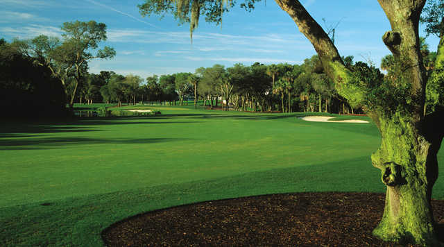 A view of the 9th fairway from the Turtle Point at Kiawah Island Golf Resort