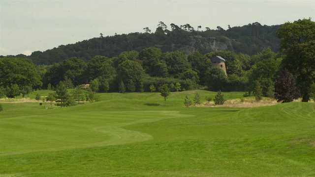 A view of a fairway at Hawkstone Park Golf Club