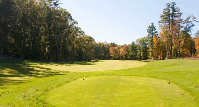A fall view from tee #3 at Swanson Meadows Golf Course.