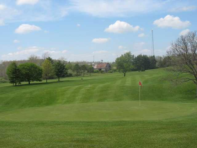 A view of a green at Country Meadows Golf Resort