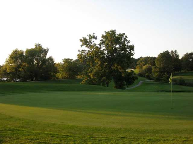 A view of a hole at Pleasant Valley Country Club