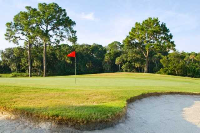 A view of a green at Turtle Creek Golf Club