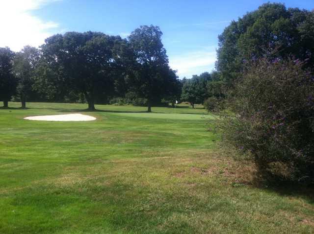 A view of the 3rd green at Cedar Hill Golf Club