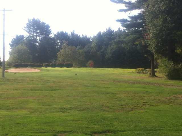 A view of tee #7 at Cedar Hill Golf Club