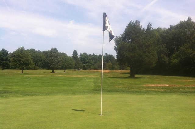 A view of hole #2 at Cedar Hill Golf Club