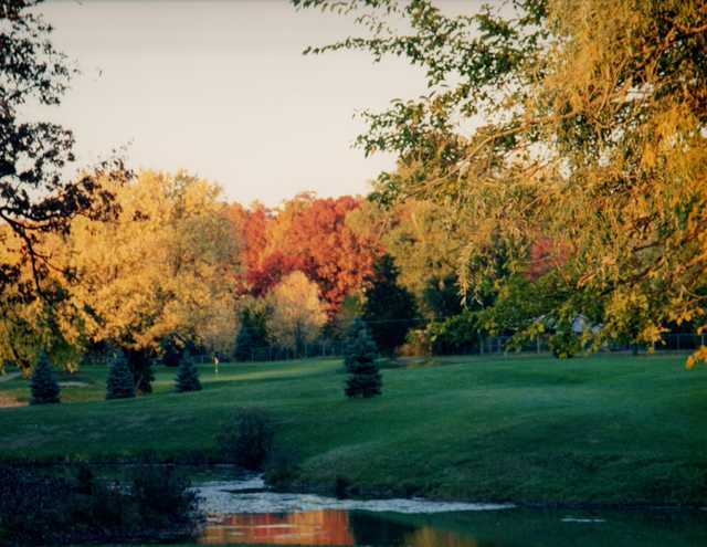 A view over the water from Hickory Hill Golf Club