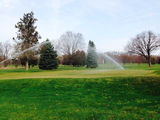 A view of a green at Hickory Hill Golf Club