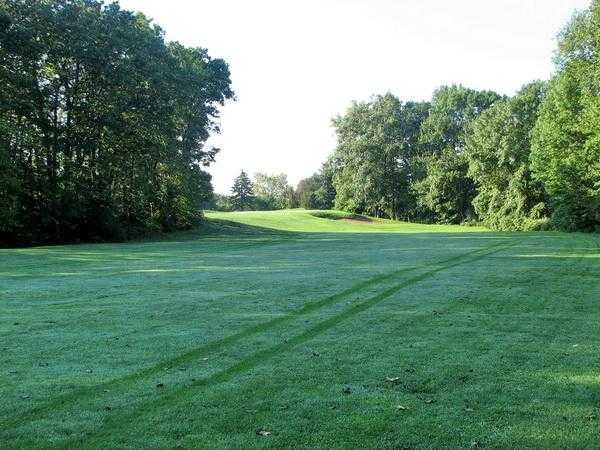 A view from a fairway at Rolling Greens Golf Course
