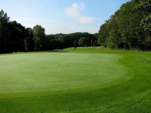 A view of a green at Rolling Greens Golf Course