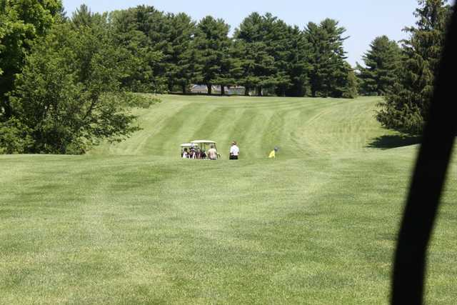 A view of a fairway at Prairie du Chien Country Club