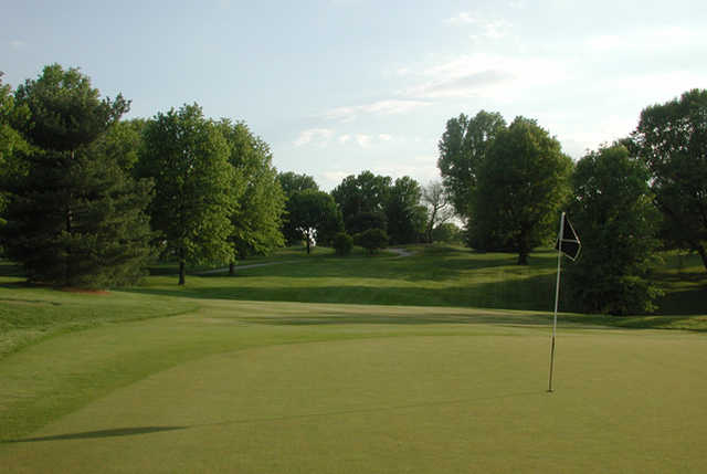 A view of hole #15 at East from Norwood Hills Country Club