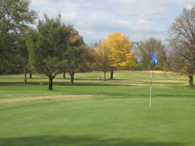 A view of a green at Berry Hill Golf Course