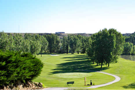 A view of a tee at Elmer Link Course from Pryor Creek Golf Club