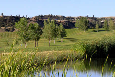 A view over the water from Pryor Creek Golf Club