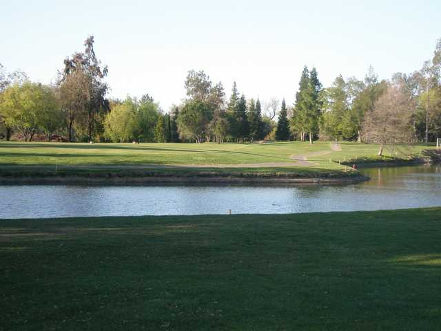 A view over the water from Dry Creek Ranch Golf Course