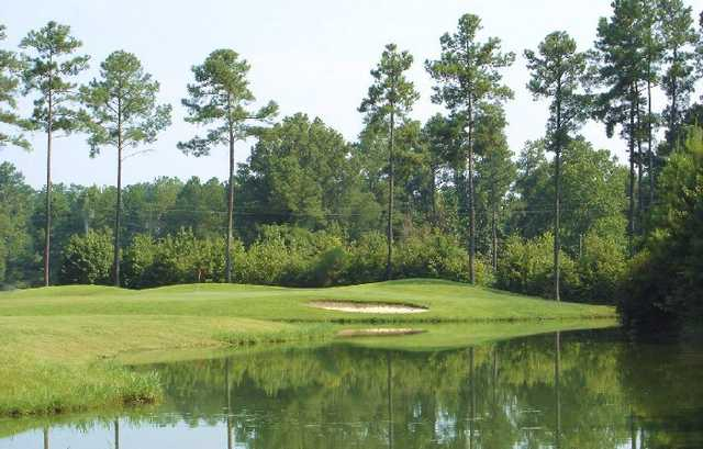 A view of a green at Crossings Golf Club