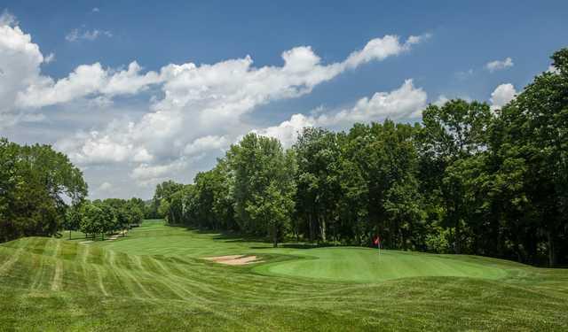 A view of a green at Fox Run Golf Club
