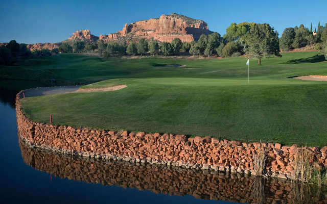 Looking back from the 17th green from Sedona Golf Resort