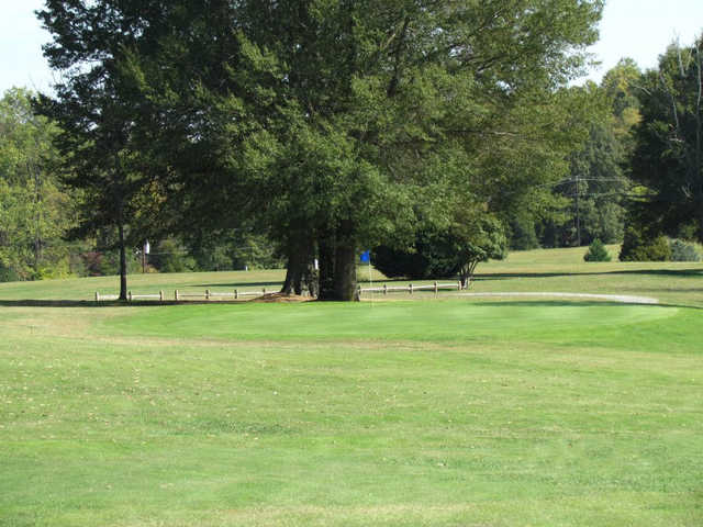 A view of a green at Brookwood Golf Course
