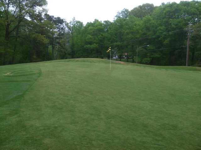 A view of the 1st green at Heather Hills Golf Course