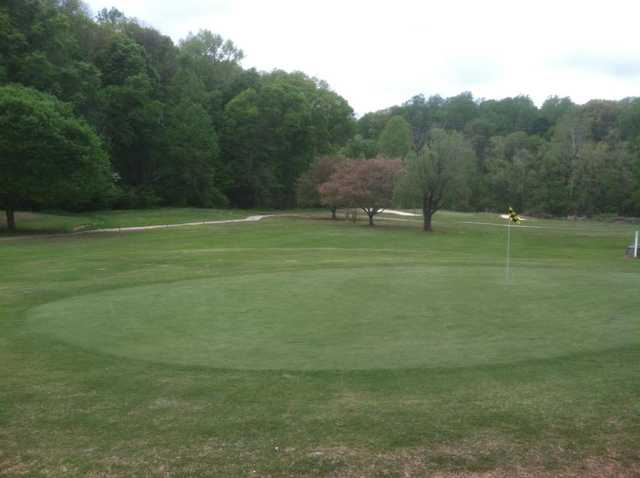 A view of the 16th green at Heather Hills Golf Course